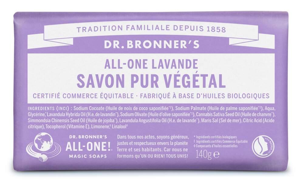 Savon Pur Végétal, All-One Rose, Dr. Bronner's, 5, 99 €.