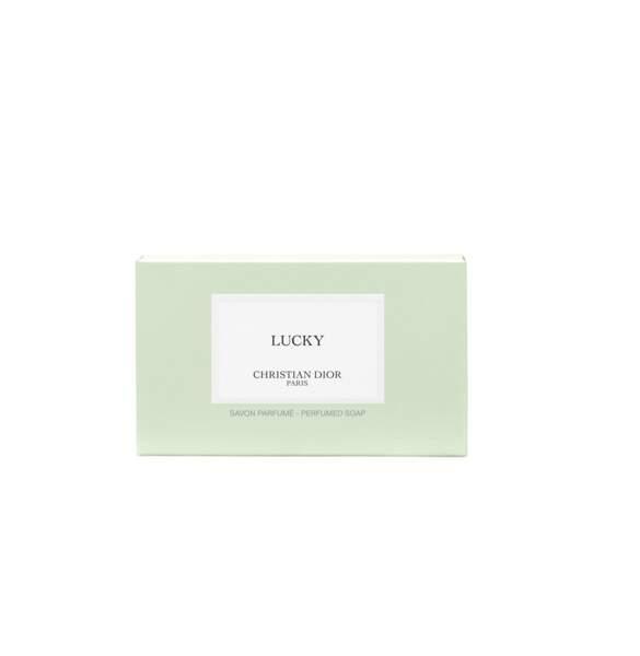 Savon Solide Parfumé Lucky, Maison Christian Dior, 35 €.