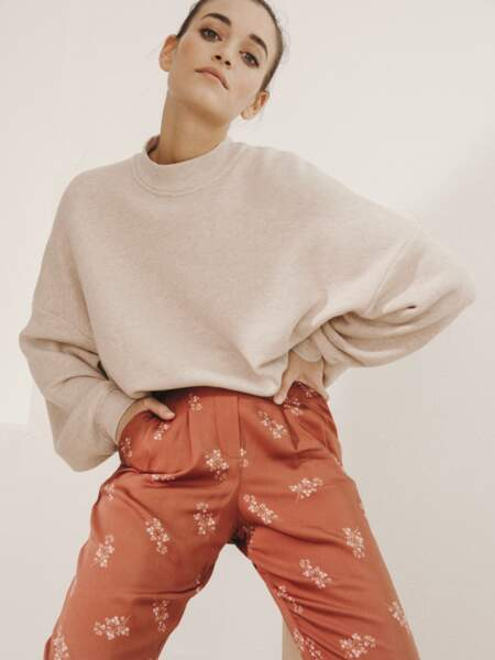 Pantalon « Attitude » 59 € et pull « Doudou » 59 €, Princesse Tam Tam