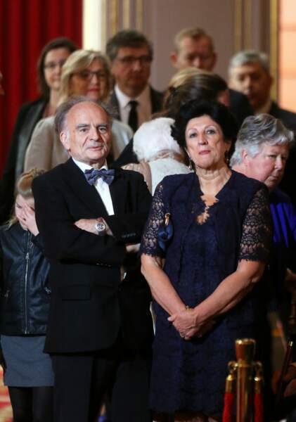 Jean-Michel Macron et Françoise Noguès-Macron, les parents du président, le 14 mai 2017 à l'Elysée.