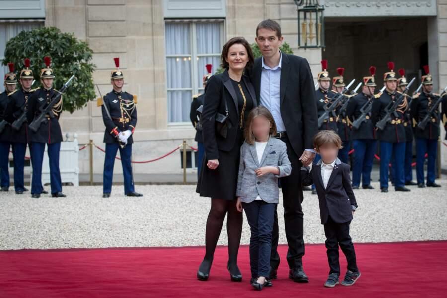 Sébastien Auzière, fils aîné de Brigitte Macron et beau-fils d'Emmanuel Macron, en famille à l'Elysée, le 14 mai 2017.