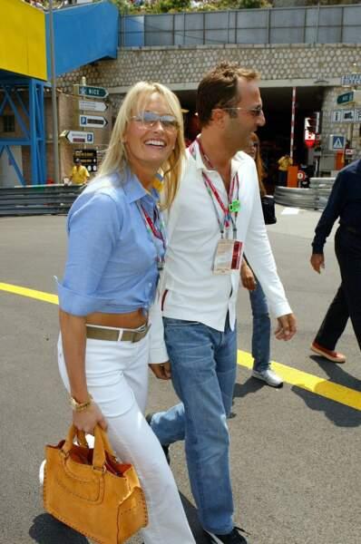 Estelle Lefébure et Arthur, lors du Grand Prix de Formule 1 de Monaco, en juin 2003.