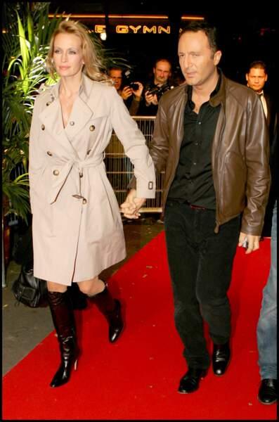 Arthur et Estelle Lefébure, lors de la cérémonie des NRJ Ciné Awards en 2006, au Grand Rex.