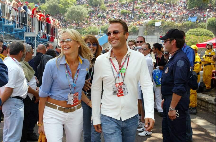 Estelle Lefébure et Arthur, au Grand Prix de Formule 1 de Monaco, en juin 2003.