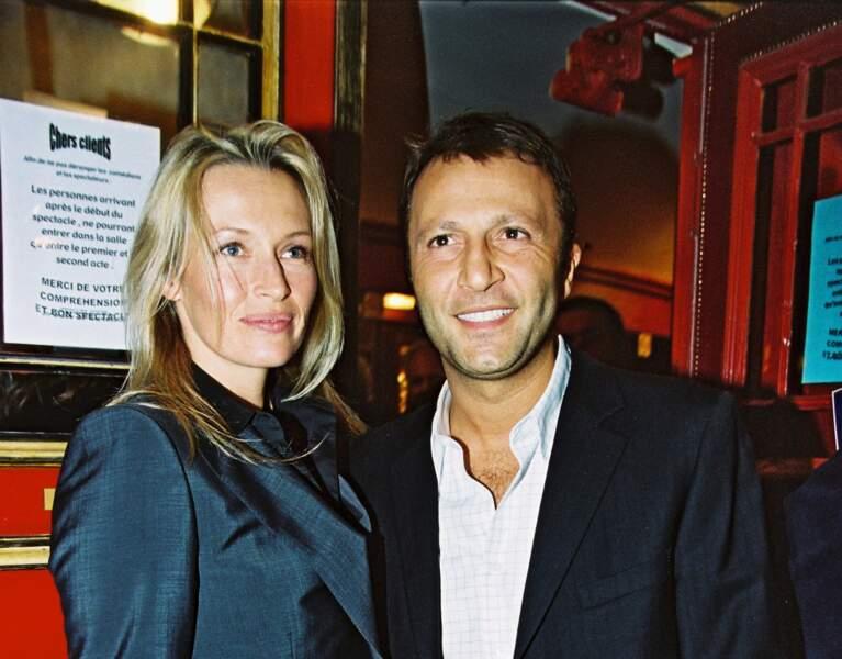Estelle Lefébure et Arthur, le 7 mars 2002.