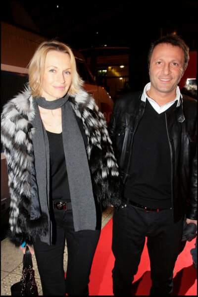 Estelle Lefébure et Arthur, à l'avant-première de Bienvenue chez Ch'tis, à Lille, le 18 février 2008.