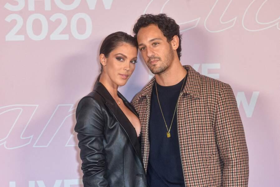 Discrets sans pour autant taire leur amour, Iris Mittenaere et Diego El Glaoui sont apparus ensemble pour la première fois lord du défilé Etam Live Show à Paris, le 24 octobre 2019