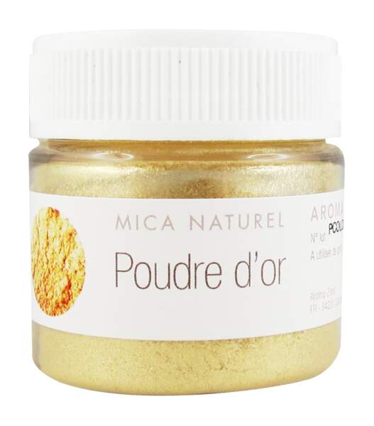 Colorant Mica naturel Poudre d'Or, Aroma-Zone, 2,90€