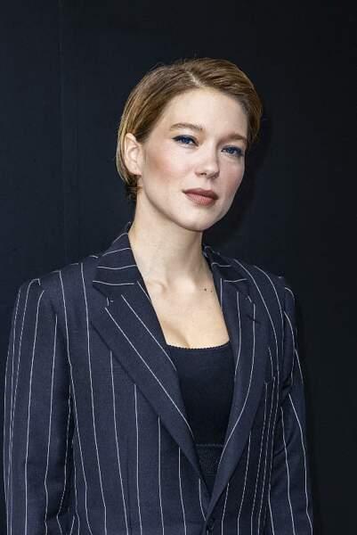 Le wet look de Léa Seydoux.
