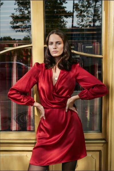 Robe fougueuse Rouge Carmin, 185€, Soi Paris