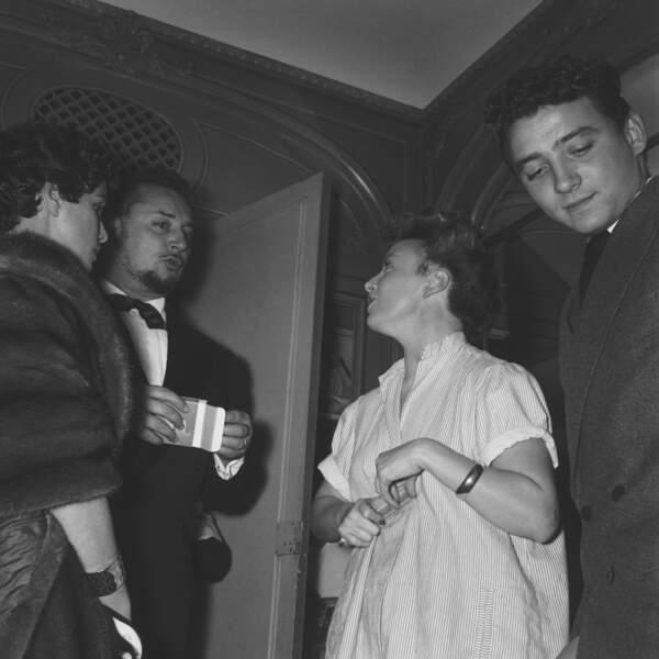 Pierre et son fils Claude Brasseur dans les années 50.