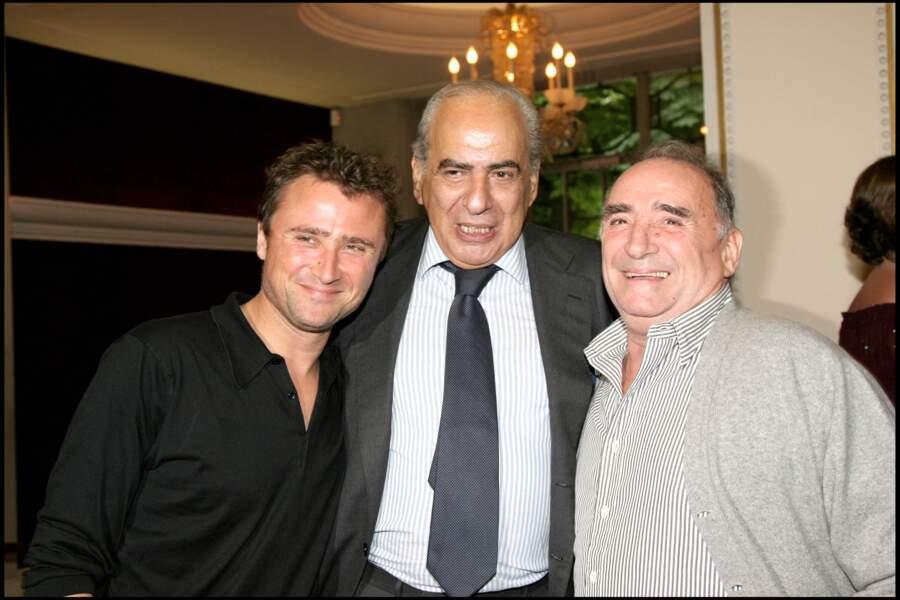 Claude Brasseur avec son fils Alexandre Brasseur et Pierre Bénichou.