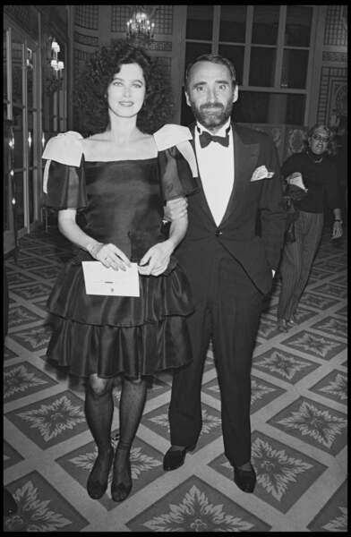 Claude Brasseur et sa femme Michele Combon au festival de Deauville en 1983