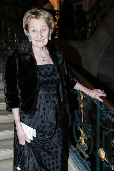 Marisa Borini, la mère de Carla Bruni très élégante lors d'un dîner de gala en 2015.