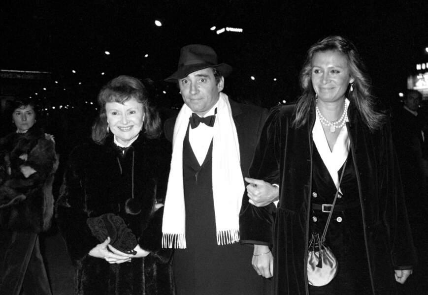 Odette Joyeux, son fils Claude Brasseur et son épouse Michele Combon. Cérémonie des Cesar en 1980