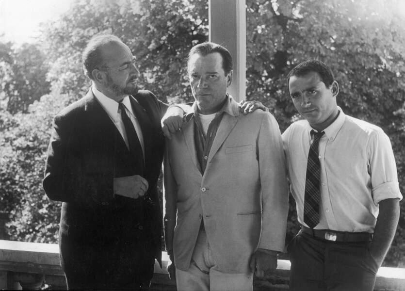 Pierre Brasseur et son fils Claude Brasseur pour la première fois réunis au cinéma en 1964.