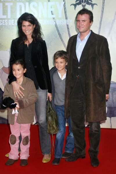 Alexandre Brasseur, sa femme Juliette Brasseur et les deux enfants en, 2006.