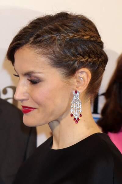 Le chignon tressé ultra chic de la reine Letizia d'Espagne