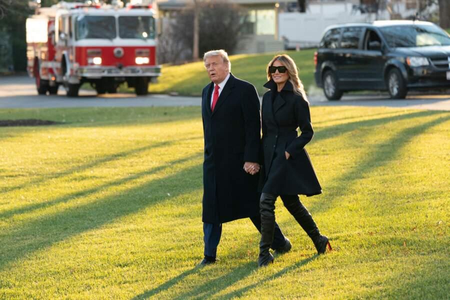 Melania Trump le 23 décembre 2020 à Mar-a-Lago