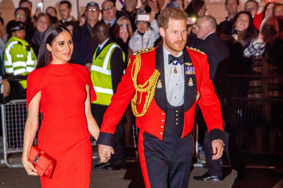 Le prince Harry et Meghan Markle assistent au festival de musique de Mountbatten au Royal Albert Hall de Londres, Royaume Uni, le 7 mars 2020.