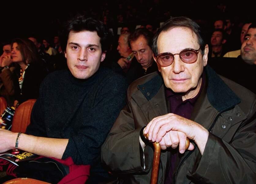 Robert Hossein et son fils Julien en 2001