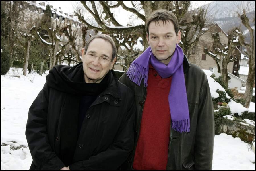 Robert Hossein et son fils Pierre Hossein au Festival du film de Luchon en 2005