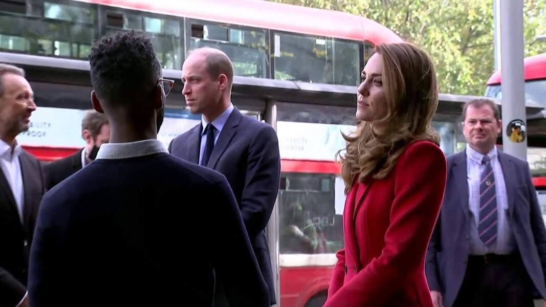 """Le prince William et Kate Middletonvisitent l'hôpital St. Bartholomew dans le cadre du projet photographique """"Hold Still"""". Londres. Le 20 octobre 2020."""