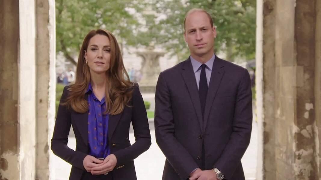 Le prince William et Kate Middleton participent à une interview pour remercier les équipes médicales du National Health Service (NHS). Le 3 novembre 2020