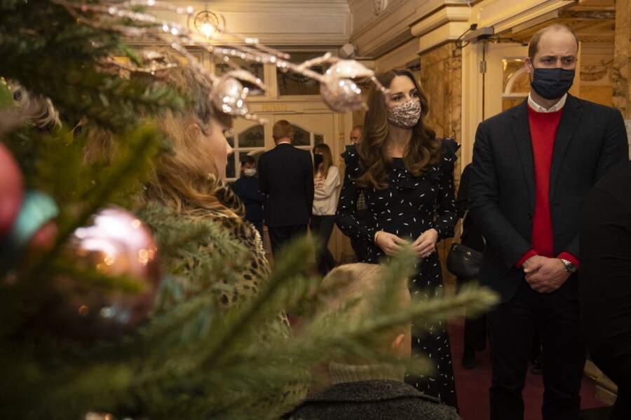 Le prince William et Kate Middleton ont assisté à un spectacle donné en l'honneur des personnes qui ont été mobilisées pendant la pandémie au Palladium à Londres, Royaume Uni, le 11 décembre 2020.