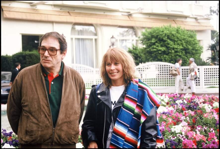 Robert Hossein et sa femme Candice Patou au Festival de Cannes de 1988
