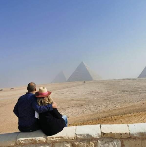 Romain Magellan et Valérie Trierweiler en Égypte pour le nouvel an le 31 décembre 2020