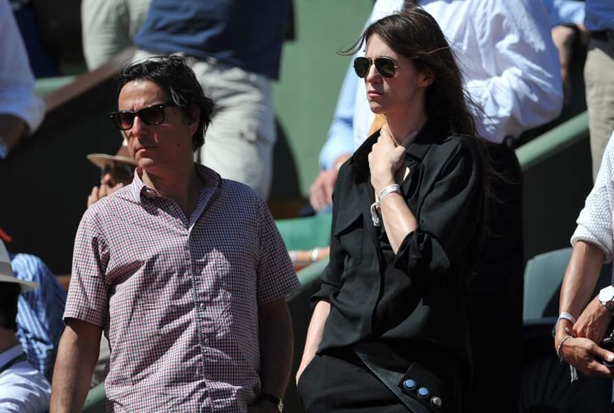 Charlotte Gainsbourg et Yvan Attal, à Roland Garros, en juin 2014.
