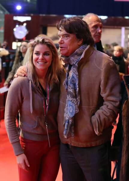 Bernard Tapie et sa fille Sophie, à Villepinte, en décembre 2013.