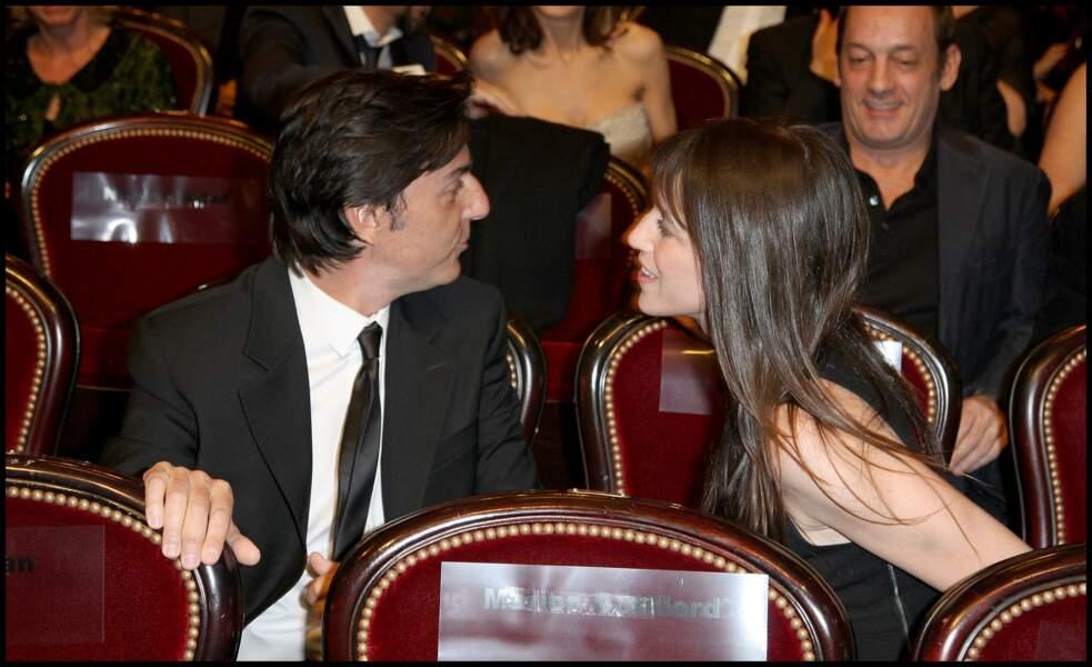 Yvan Attal et Charlotte Gainsbourg, à la 35ème cérémonie des César en février 2010.