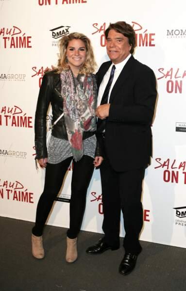 """Bernard Tapie et sa fille Sophie, le 31 mars 2014, lors de l'avant-première de """"Salaud on t'aime"""" à l'UGC Normandie, à Paris."""