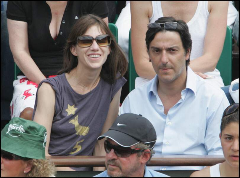 Charlotte Gainsbourg et Yvan Attal, à Roland Garros, en 2007.