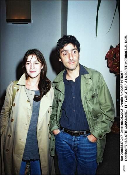 Charlotte Gainsbourg et Yvan Attal, en 2002.