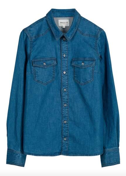 Chemise en denim de la collection capsule responsable, 79€, Maison 123 Paris