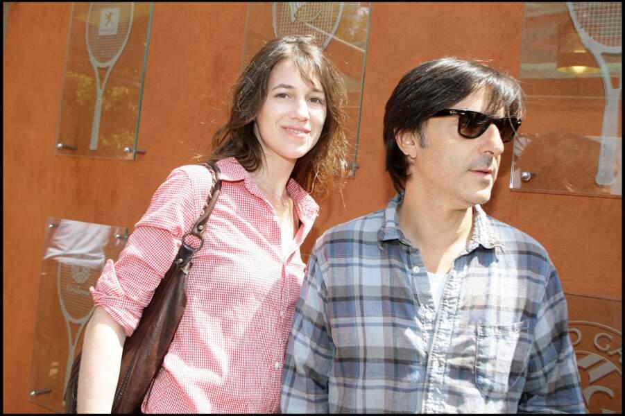 Charlotte Gainsbourg et Yvan Attal, à Roland Garros en 2009.