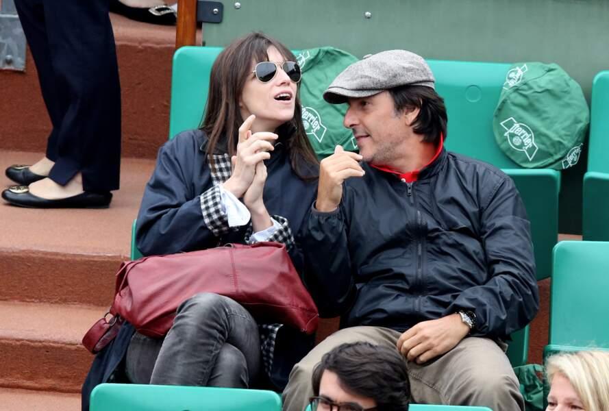 Charlotte Gainsbourg et Yvan Attal, à Roland Garros, le 9 juin 2013.