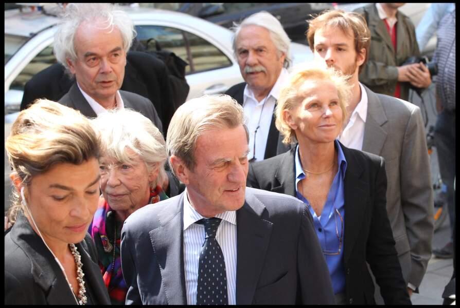 Evelyne Pisier, avec son ex-mari Bernard Kouchner et sa femme, Christine Ockrent, en 2011, pour l'hommage à Marie-France Pisier, décédée la même année.