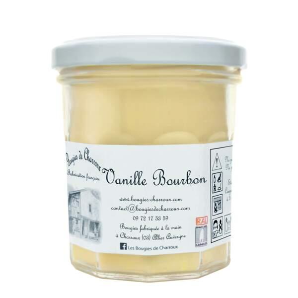 Bougie Vanille Bourbon, Bougies de Charroux, 9 € sur www.bougies-charroux.com