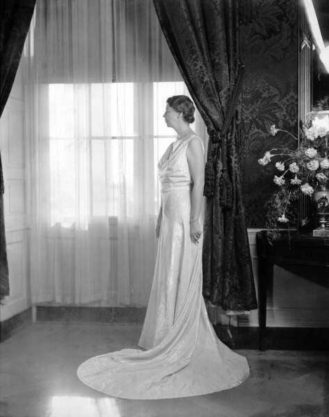 Eleanor Roosevelt, lors du bal d'investiture, le 16 janvier 1937.
