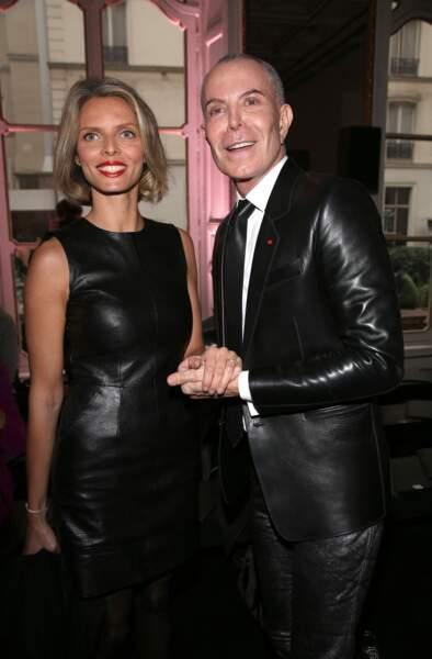 Sylvie Tellier en Jitrois avec Jean Claude Jitrois à Paris le 06/03/2013.
