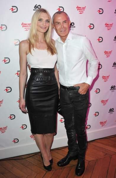 Sarah Marshall, longtemps muse de la marque, en jupe en cuir Jean Clause Jitrois, le 17 septembre 2013.