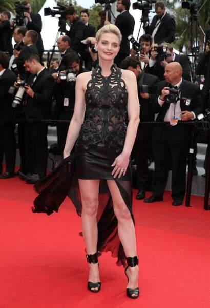 Sarah Marshall en robe Jitrois à Cannes le 19 mai 2014.
