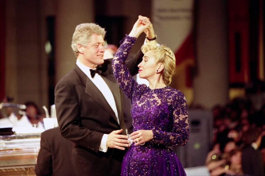 Bill et Hillary Clinton, le 20 janvier 1993.