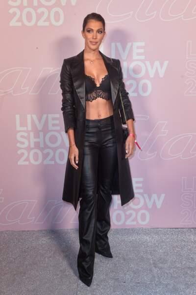 Iris Mittenaere en tenue Jitrois lors du défilé Etam Live Show 2020 à Paris le 29 septembre 2020.