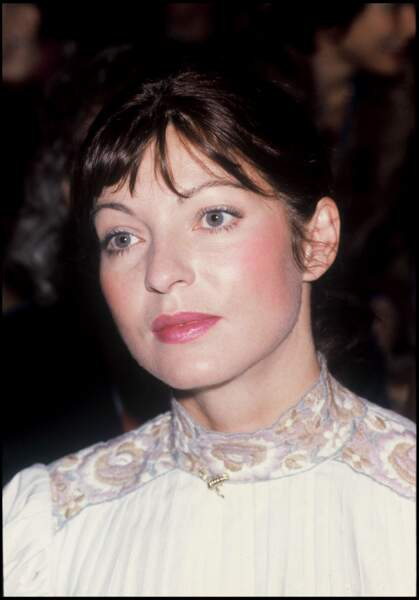 Marie-France Pisier a un défilé de mode à Paris en 1982.