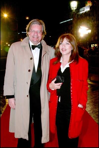 Marie France Pisier et son mari en 2007